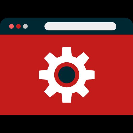 Icona Disegnata di Ingranaggio all'Interno di un Browser. Sta per Comunicazione sul Web