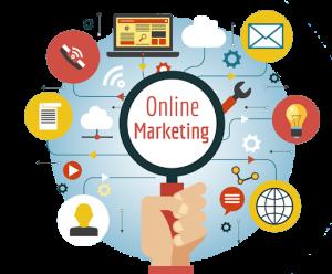 Illustrazione Grafica di Online Marketing